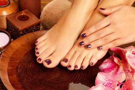 Blush Hair & Beauty - Gel Varnish Manicure, Pedicure or Both  - Save 0%