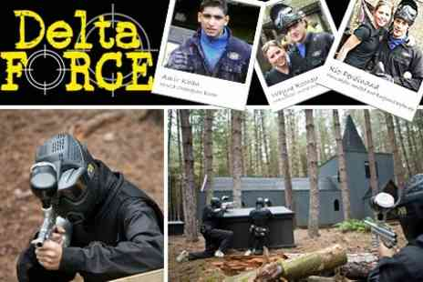 Delta Force Paintball - Full day of paintballing, including entry, kit, equipment hire and 100 paintballs - Save 76%