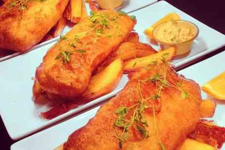 The Kentford - Ale Battered Fish and Triple Cooked Chips with Optional Bottle of Wine for Two  - Save 54%