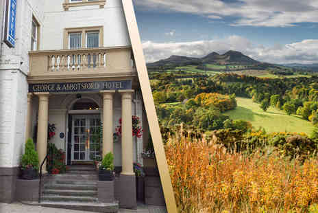 The George & Abbotsford Hotel - Overnight Scottish Borders stay for two including a Three course dinner and breakfast - Save 39%