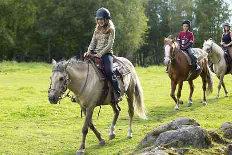 Manor Farm Riding Centre - Two Hour Horse Trek with Hot Drinks and Biscuits for One  - Save 55%