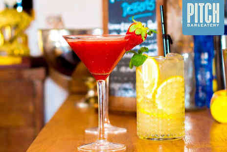 Pitch Bar & Eatery - Cocktail Making Masterclass for One  - Save 50%
