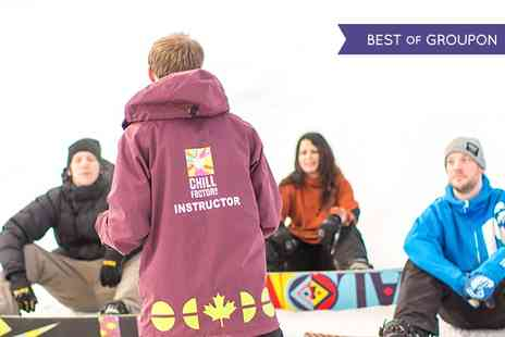 Chill Factor - Beginner Ski or Snowboard Lesson For One - Save 59%