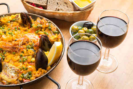 Jamon Jamon - Paella or Four Tapas Dishes to Share with Sides and Cava for Two  - Save 53%