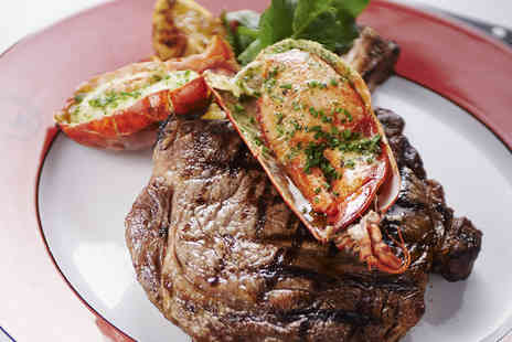 Boisdale of Canary Wharf - Steak and Lobster Meal with Prosecco for Two - Save 50%