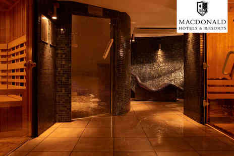 Macdonald Manchester Hotel and Spa - Overnight Stay for One or Two with Breakfast Bottle of Prosecco and Thermal Suite Access - Save 59%