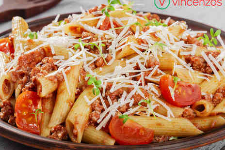 Vincenzos Pizza House - Pizza or Pasta with Cocktail or Beer for Two   - Save 53%