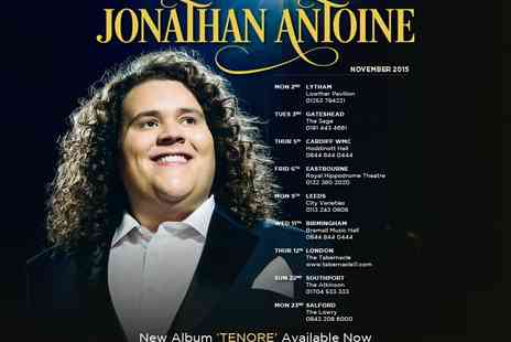Cuffe & Taylor Touring - One ticket to Jonathan Antoine  - Save 3%