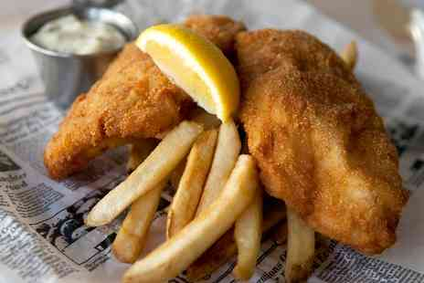 Toast Cafe Bar - Fish and Chips for Two - Save 53%