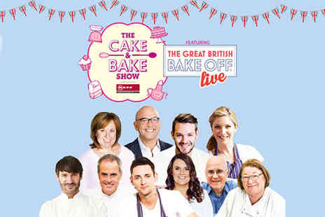 The Cake and Bake Show - Two tickets to The Cake & Bake Show featuring The Great British Bake Off Live  - Save 50%