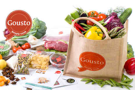 Gousto - Fresh, gourmet ingredients for chef designed meals for Two - Save 60%