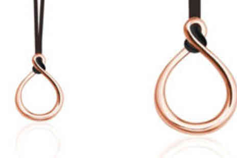 One Reward - Inori rose gold coloured stainless steel loop pendant plus delivery - Save 0%