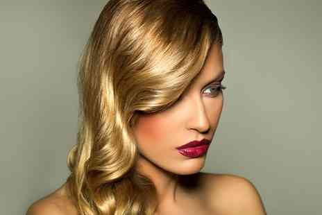 Studio 34 - Cut, Blow Dry and Conditioning with Either Full Head of Colour or Half Head of Highlights  - Save 46%