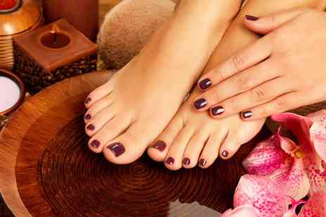 Elite Nails & Beauty School - Shellac Manicure, Pedicure or Both - Save 56%
