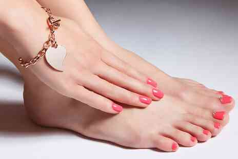 Design One - Gel Manicure, Pedicure or Both, or Acrylic Nails with Gel Manicure  - Save 50%