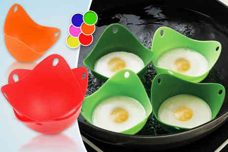 CK Collection - Two silicone egg poachers for four  - Save 70%