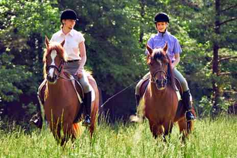 Matchmoor Riding Centre - Private Horse Riding Lesson With a One Hour Trek  - Save 51%