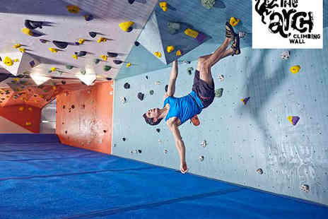 The Arch Climbing Wall - Hour Long Introduction to Climbing Lesson with Additional Climbing Pass and Shoe Hire - Save 70%