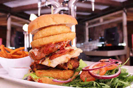 Barca Bar & Restaurant - Your choice of burger, chips, salad and beer for two - Save 63%