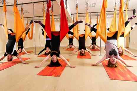 Heavenly fitness - One Session of Aerial Hammock or Hoop Yoga  - Save 50%