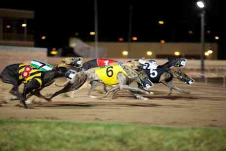 burger plus - Night at the Races with Burger and Beer for Two - Save 73%