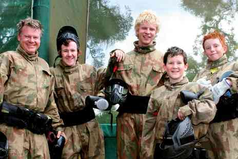 Paintball Networks -  Party for Up to 10 Kids with 100 Paint Balls Each & Light Lunch  - Save 84%