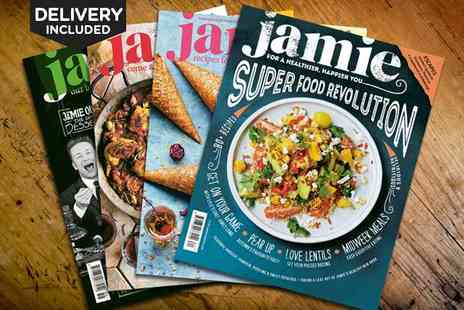 Jamie Magazine - 12 Month Subscription of Jamie Magazine with Jamies  Everyday Super Food Cookbook, Delivery Included - Save 44%