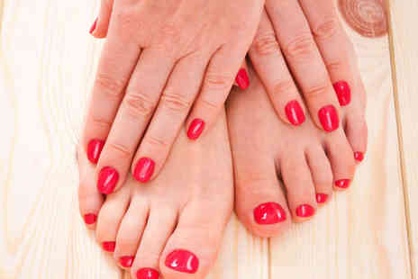Michael Jane Hair and Beauty  - Gel Manicure, Gel Pedicure, and Blow Dry - Save 65%