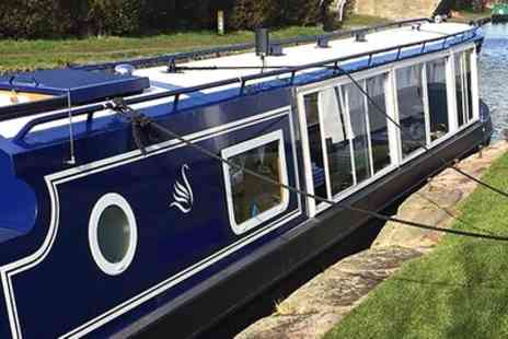Blue Swan Boat Hire - Christmas Canal Cruise with Mince Pies and Afternoon Tea for One - Save 62%