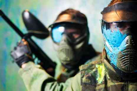 Skirmish Paintball - Paintball Pass with 100 Balls for 5 - Save 93%