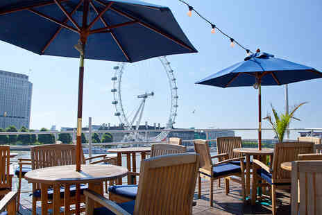 R S Hispaniola - Two course meal for two aboard the RS Hispaniola including a glass of Prosecco each and a sightseeing cruise ticket - save up to 59% - Save 59%