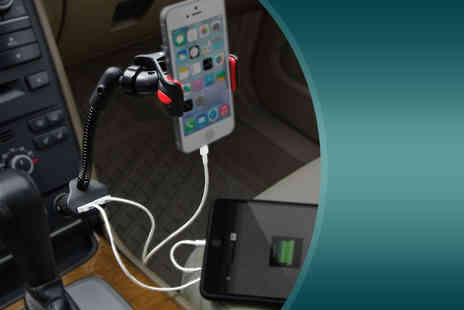 Aven Republic - Dual Smartphone charging car mount - Save 82%
