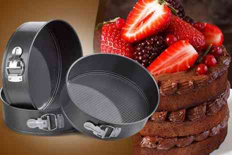 CK Collection - Three piece spring form non stick cake tin set - Save 0%