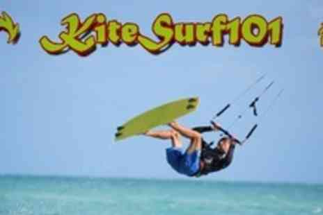 Kitesurf 101 - Five Hour Kite Surfing Course For Four - Save 57%