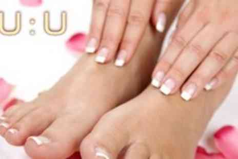 NU U - Shellac Manicure and Pedicure - Save 71%