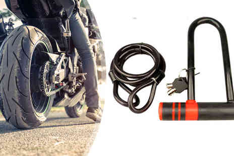 Plus Bee - Strong Security U Lock And Cable for Bikes - Save 70%