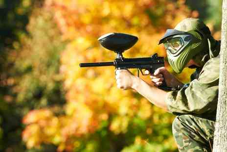 Ground Control Paintball - One Day Paintball with a Light Lunch for 2, 5, 10 or 20 People  - Save 82%