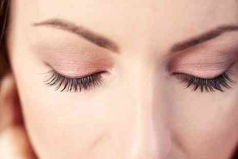 Beautiful World - Full Set of Eyelash Extensions with Optional Eyebrow Shape or Tint - Save 52%