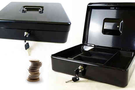 Plus Bee - 12 Inch Steel Petty Cash Box with Two Keys - Save 0%