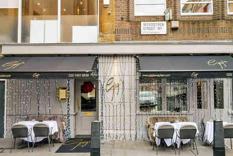 GiGis Mayfair  - Italian Three Course Meal in Mayfair with a Bottle of Prosecco for Two - Save 63%