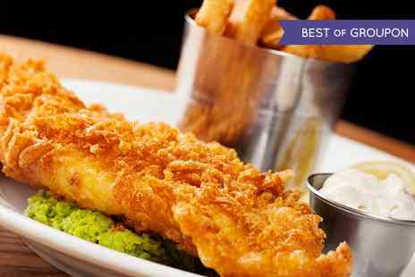 The Buck Inn - Beer Battered Fish and Chips For Two - Save 55%