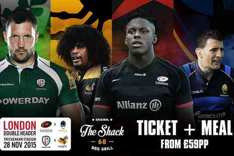 Premiership Rugby - Tickets to London Rugby Double Header  at Twickenham Stadium, Plus Meal & Drink  - Save 0%