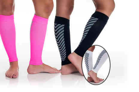 1st Light  - Pair of calf compression sleeves  - Save 89%