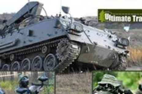 Ultimate Tracks - Tank paintball experience for four  - Save 70%