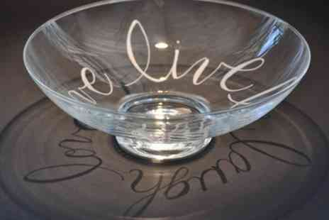 Midas Touch Crafts - Glass Engraving and Etching Workshop for One - Save 71%