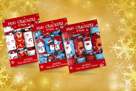 Shopperheads - Pack of 16 mini Christmas crackers  - Save 0%