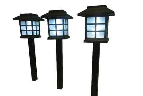 Gift Mountain - Three  Solar Garden Lanterns  - Save 53%