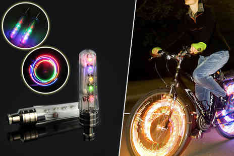 Aven Republic - Two LED rainbow bike lights - Save 84%
