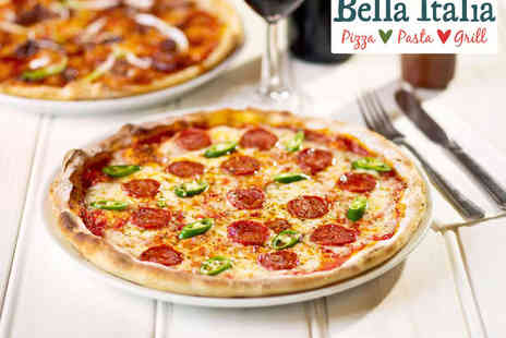 Bella Italia - Two Course Italian Meal with Glass of Wine Each For Two or Three Course Meal with Glass of Prosecco for Two - Save 51%