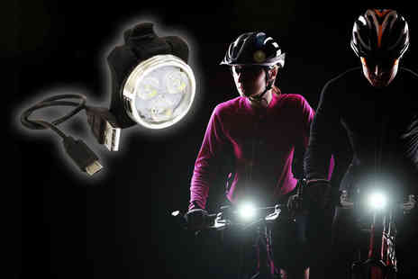 Rolson Tools -  LED USB rechargeable bike light! - Save 0%